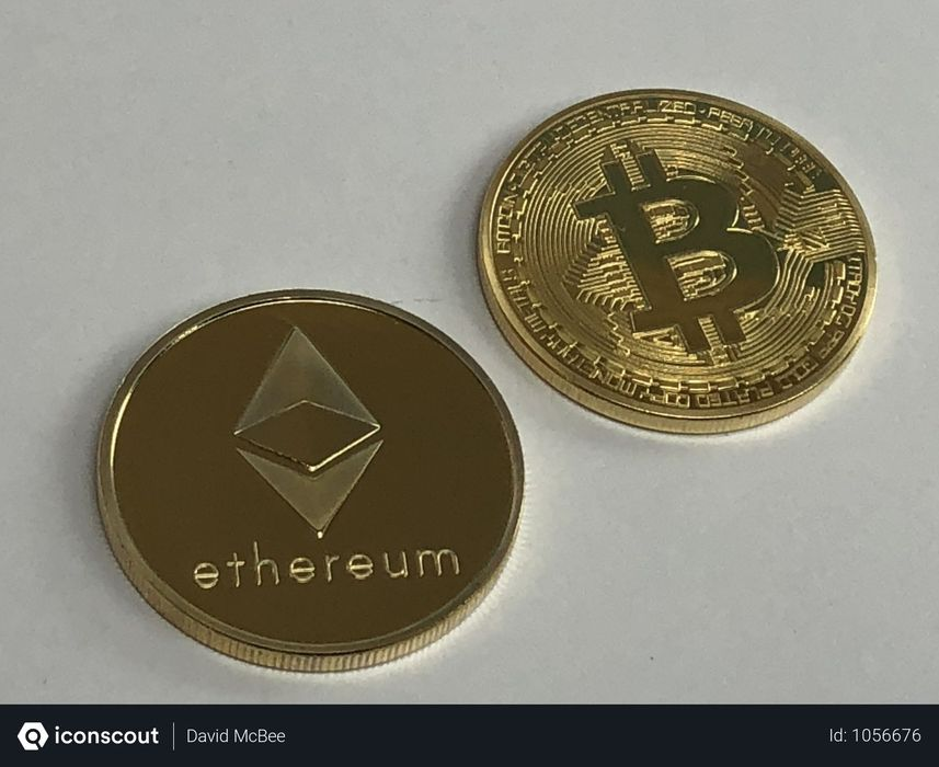 Bitcoin And  Ethereum Coin Photo