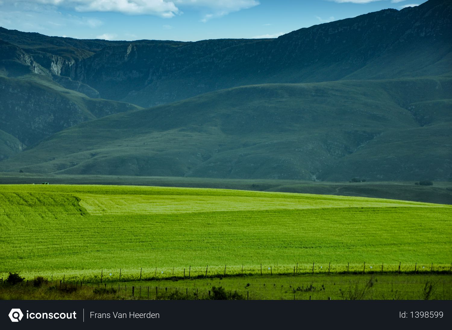 Blue mountains, field, hills Photo