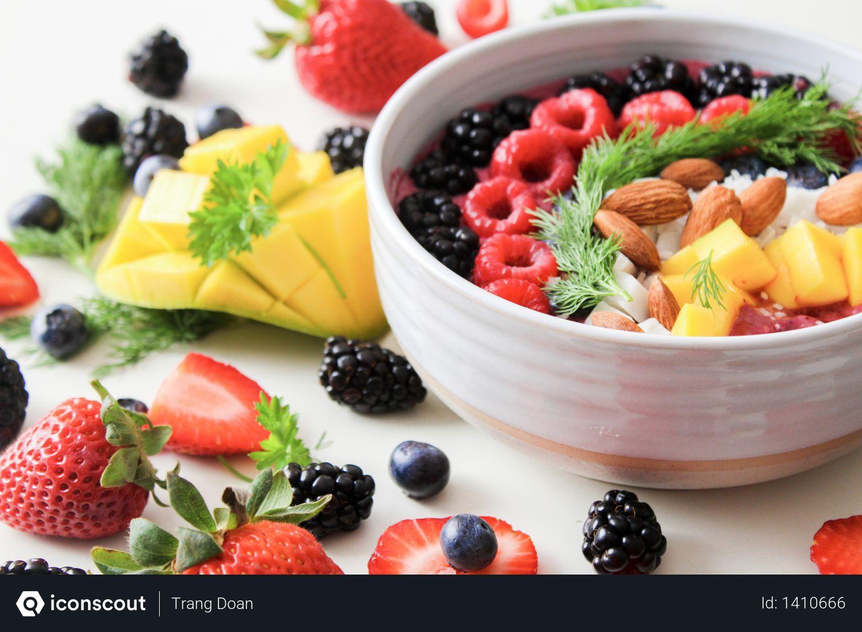 Fruit Salad In White Ceramic Bowl Photo