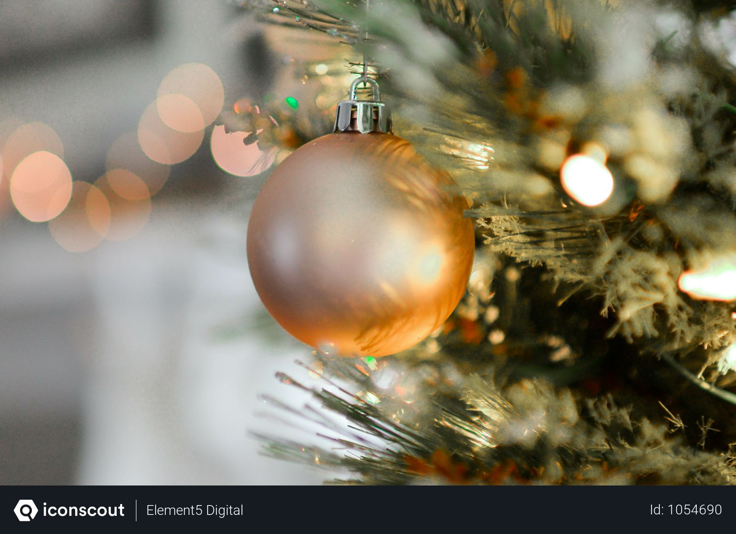 Golden Crystal Bauble For Christmas Decoration Photo