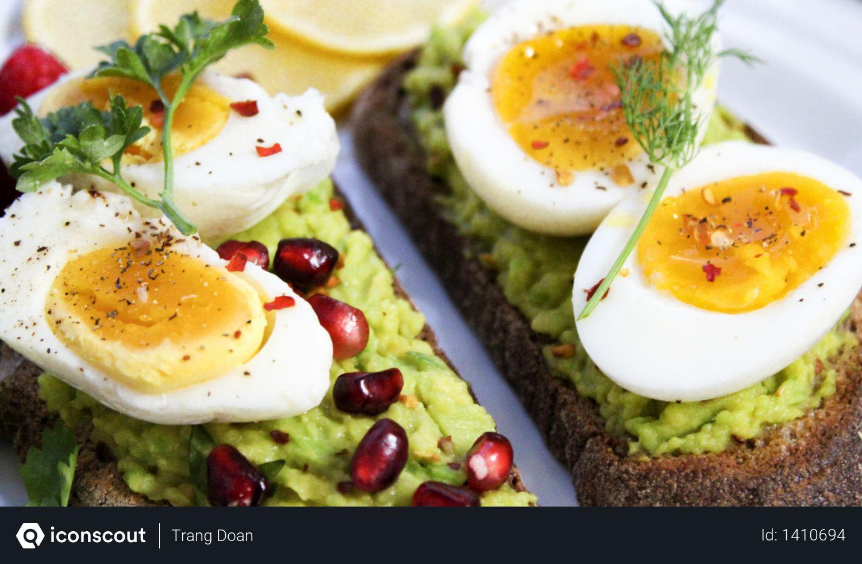Slice of Eggs on Cakes Photo