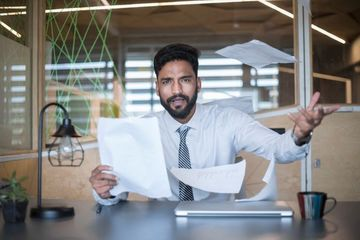 Employee Workload Stock Images