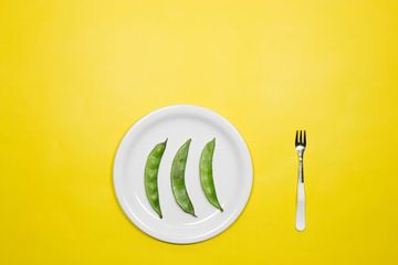 Vegetables In Plate Stock Images