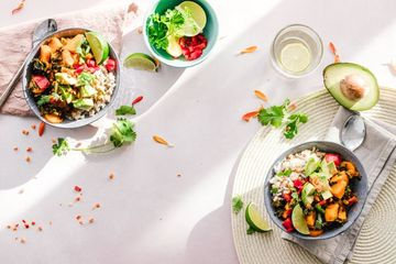 Vegetable Salad In Bowls Stock Images