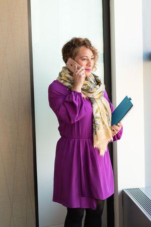 Woman In Purple Coat