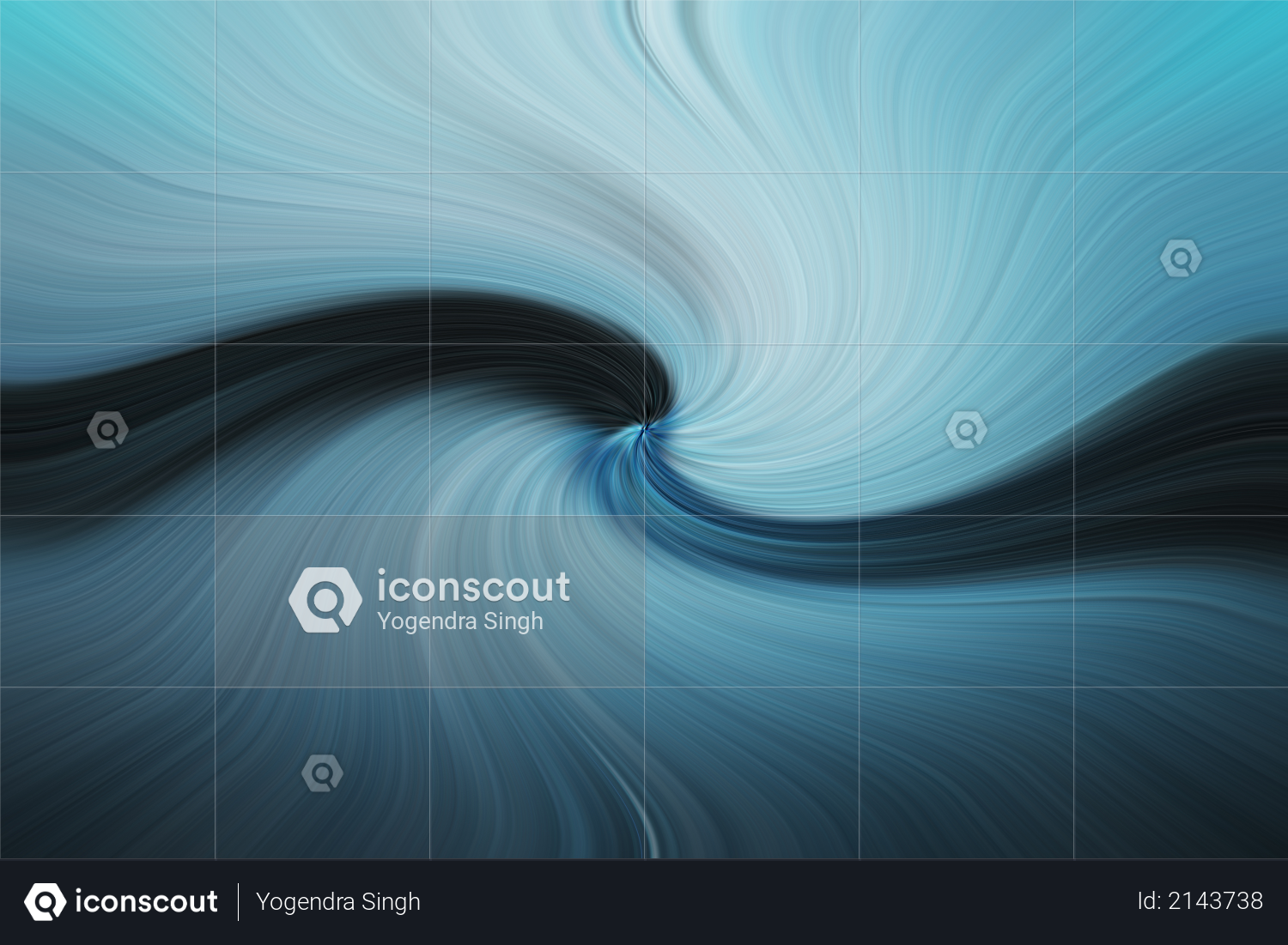 Abstract swirl design depicting ocean for background Photo