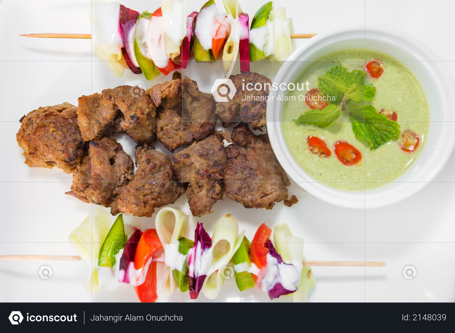 Afgan kebab , it was a Afghanistan traditional recipes Photo