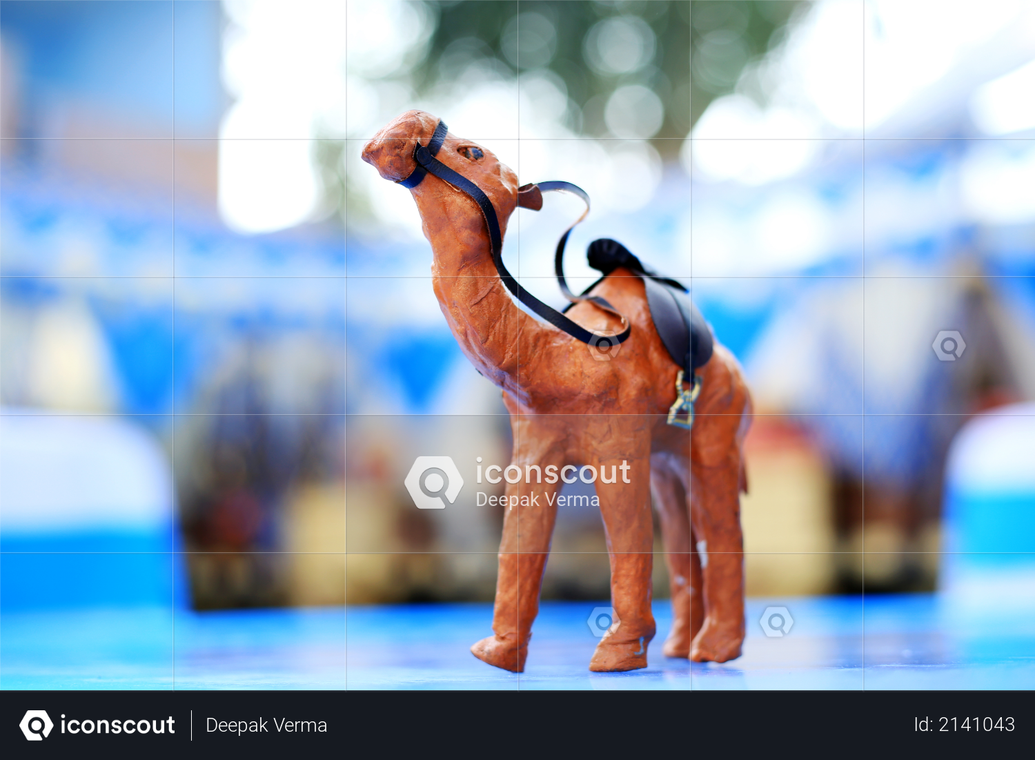 Beautiful Toy Camel in yellowish color Photo