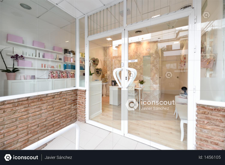 Beauty center, wellness and spa salon entrance. Photo