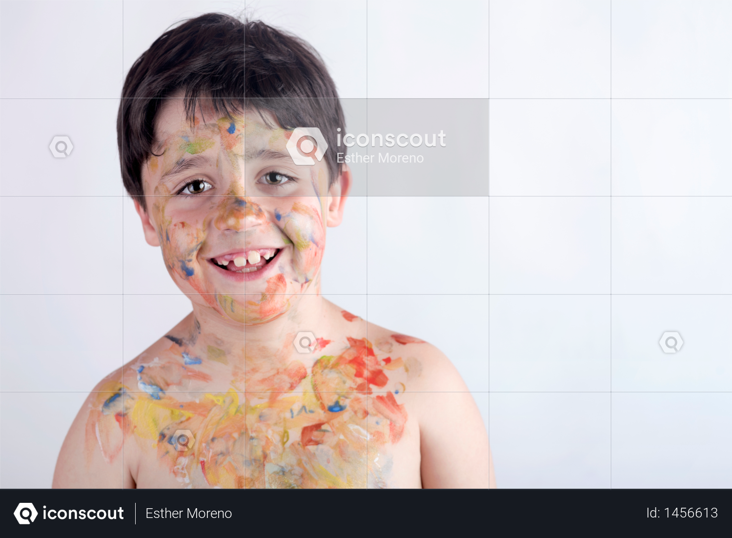 Boy with face painting Photo