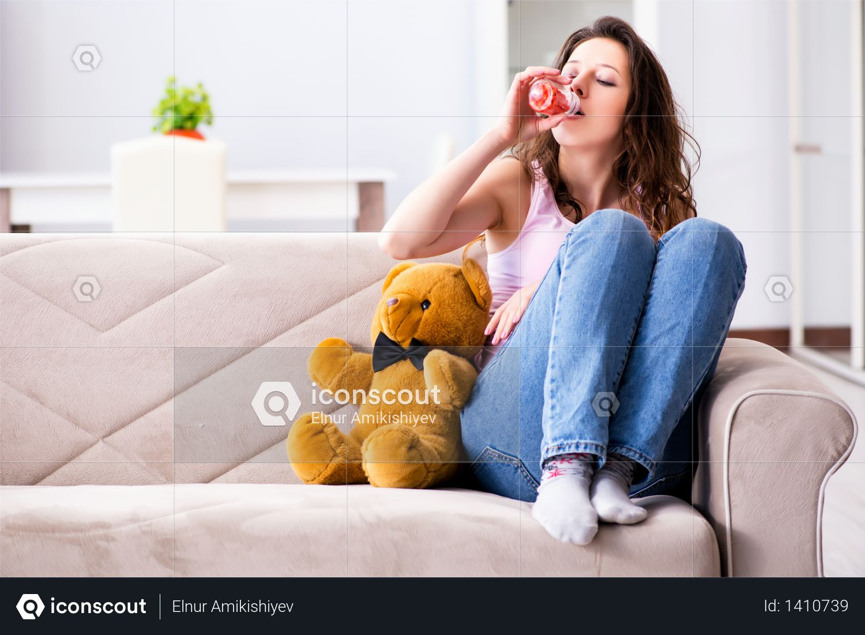Broken woman heart in relationship concept Photo