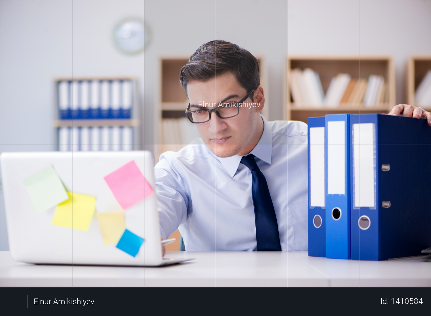 Businessman working in the office Photo