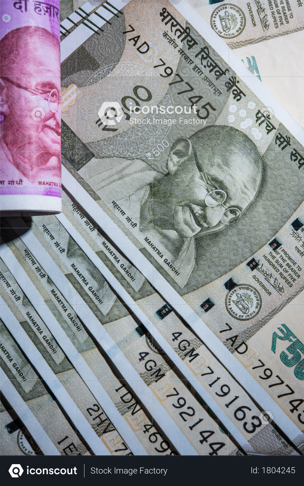 Closeup photography of Indian currency banknotes Photo
