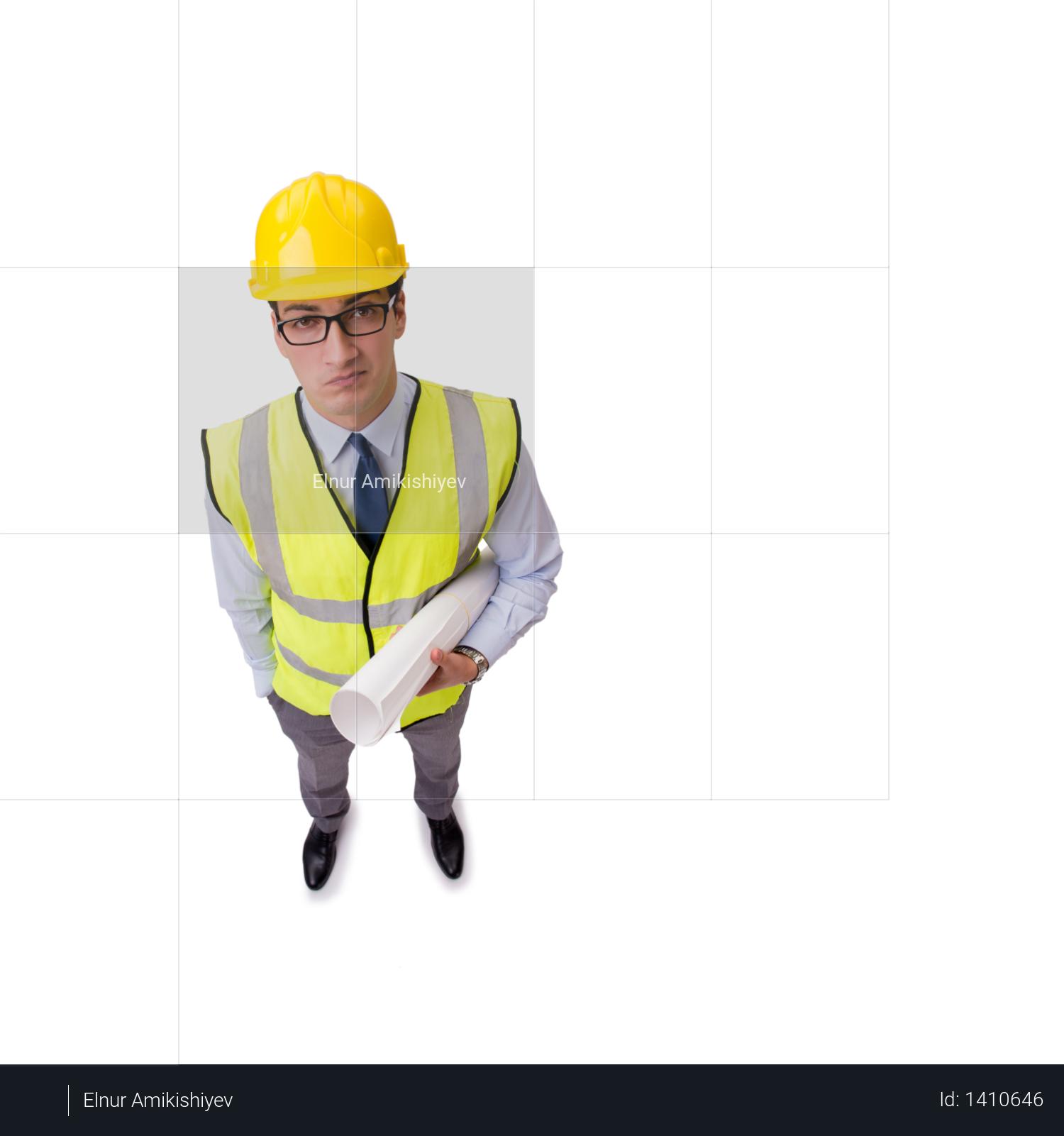 Construction supervisor isolated on the white background Photo