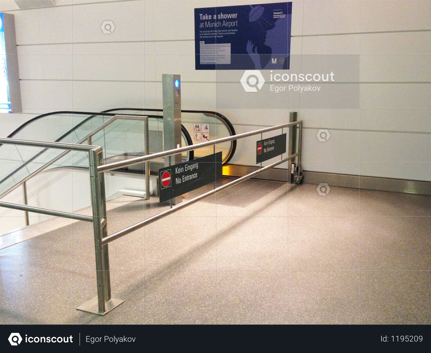 Enter in airport of the Munchen Photo