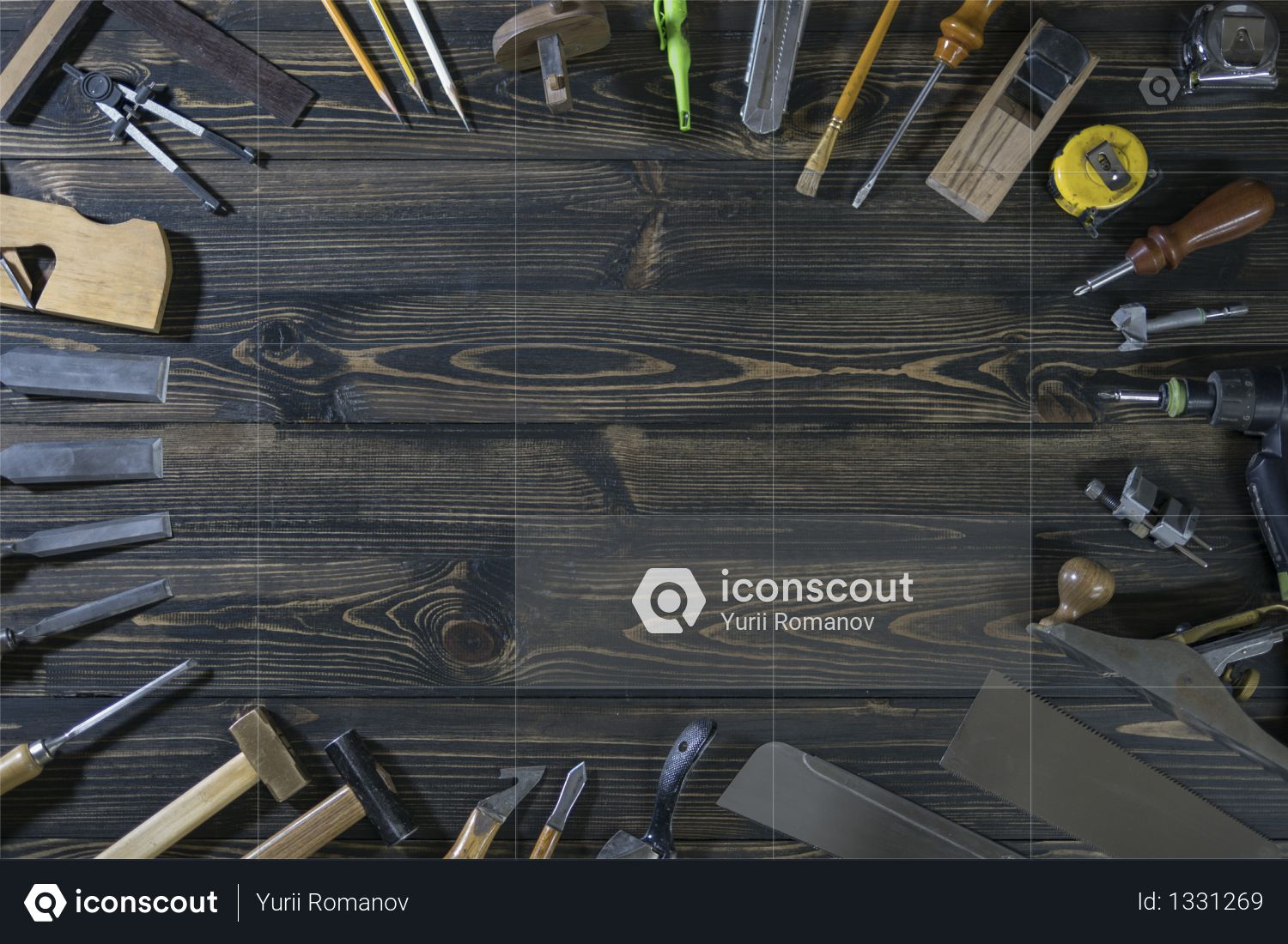International worker's labour day. carpentry tool. copy space Photo