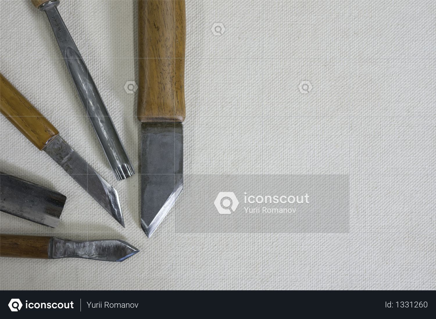 Knives and chisels for woodcarving Photo
