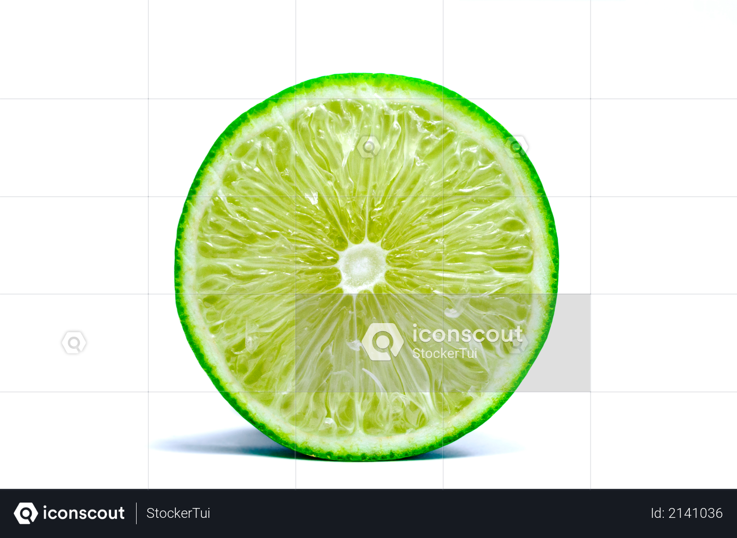 Lime lemon green with cut half isolated on white background Photo