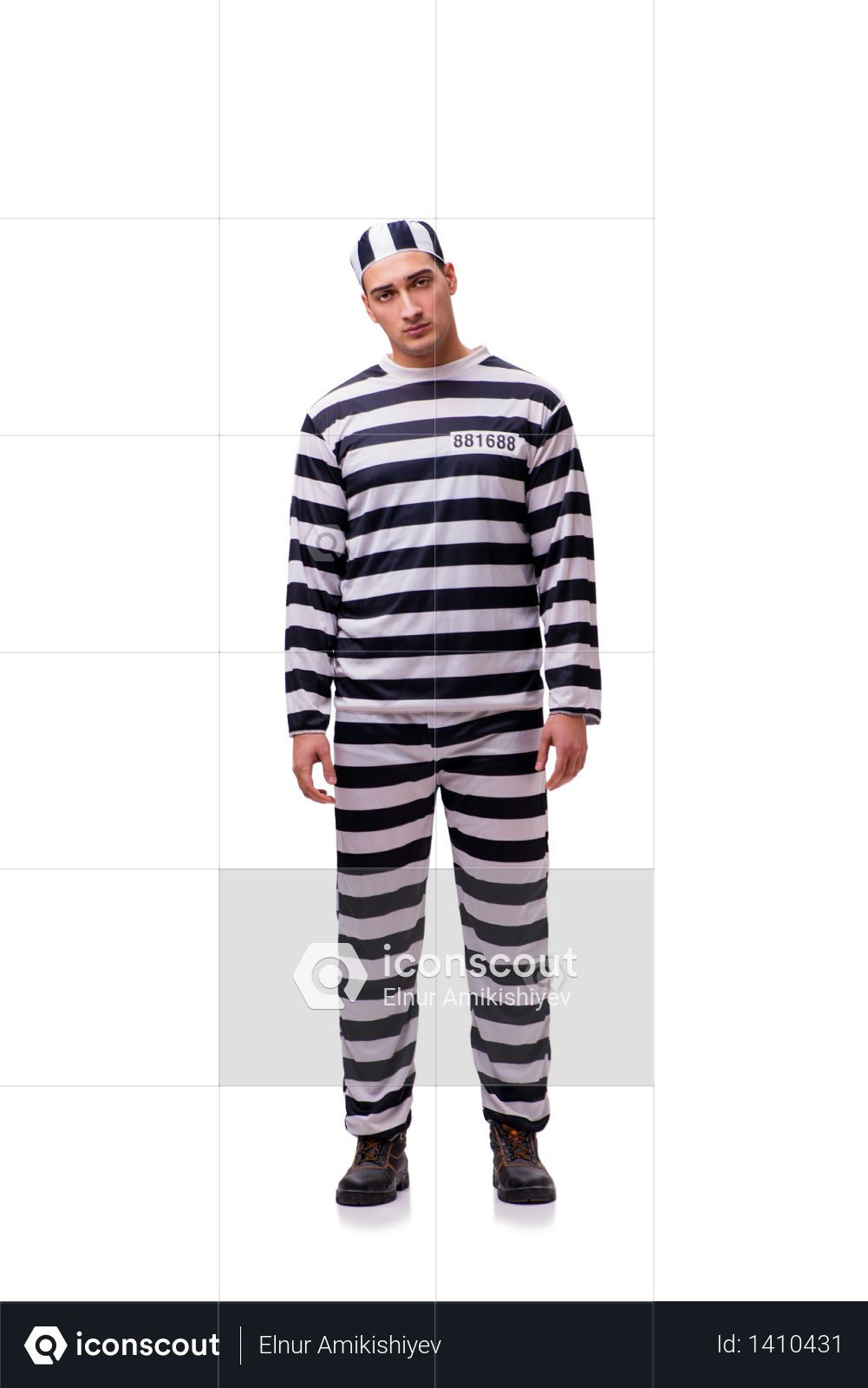 Man prisoner isolated on white background Photo