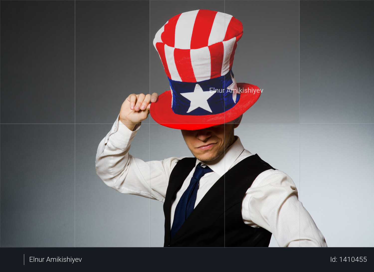 Man wearing hat with american symbols Photo