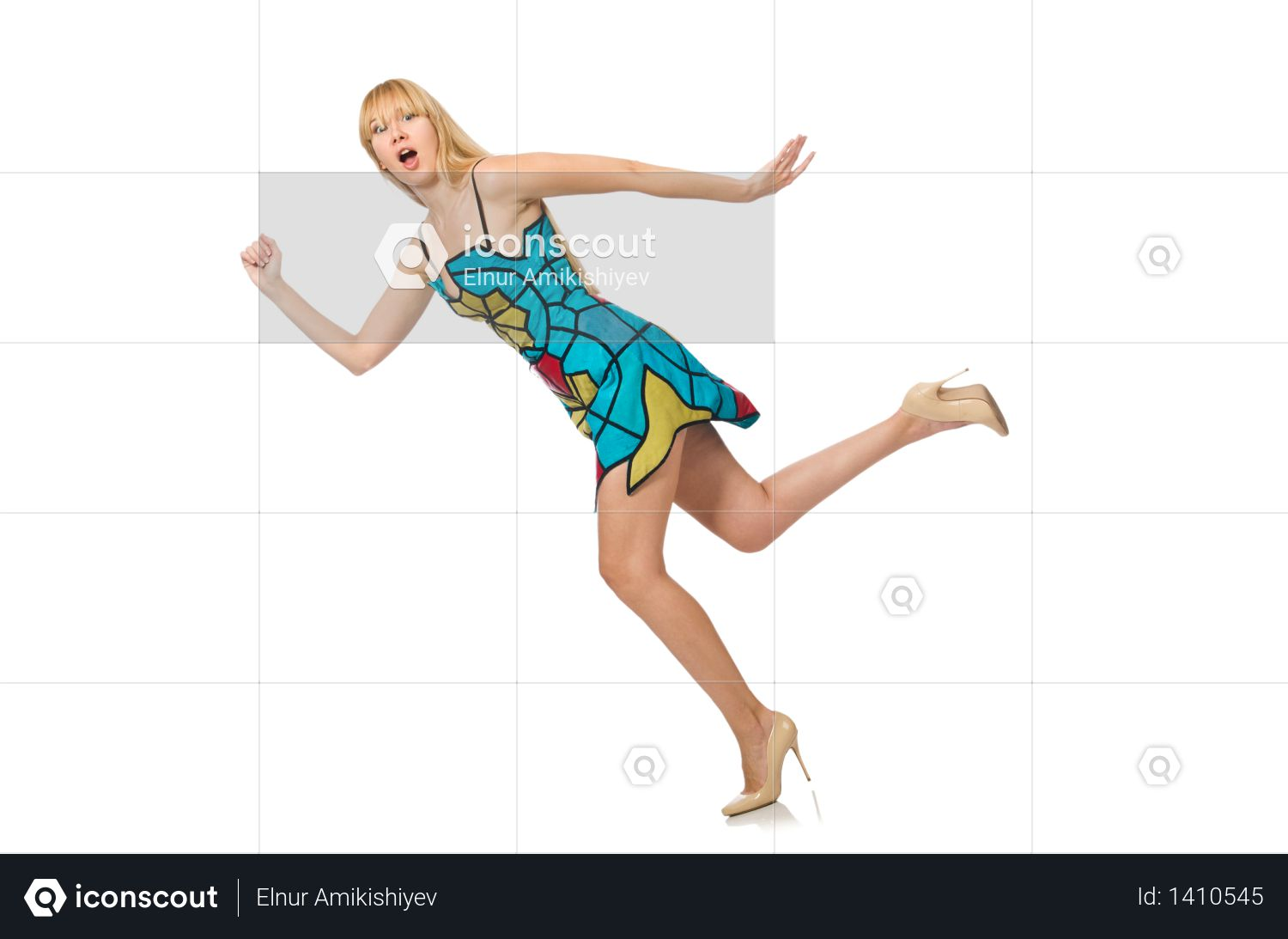 Nice woman model isolated on the white background Photo