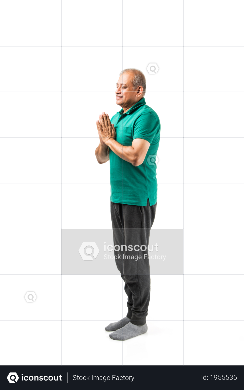 Premium Senior Indian Man Doing Yoga Or Meditation Over Isolated White Background Photo Download In Png Jpg Format