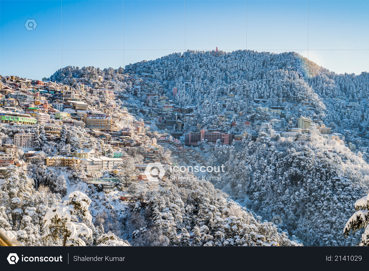 The Ridge road is a large open space, located in the heart of Shimla, the capital city of Himachal Pradesh, India Photo