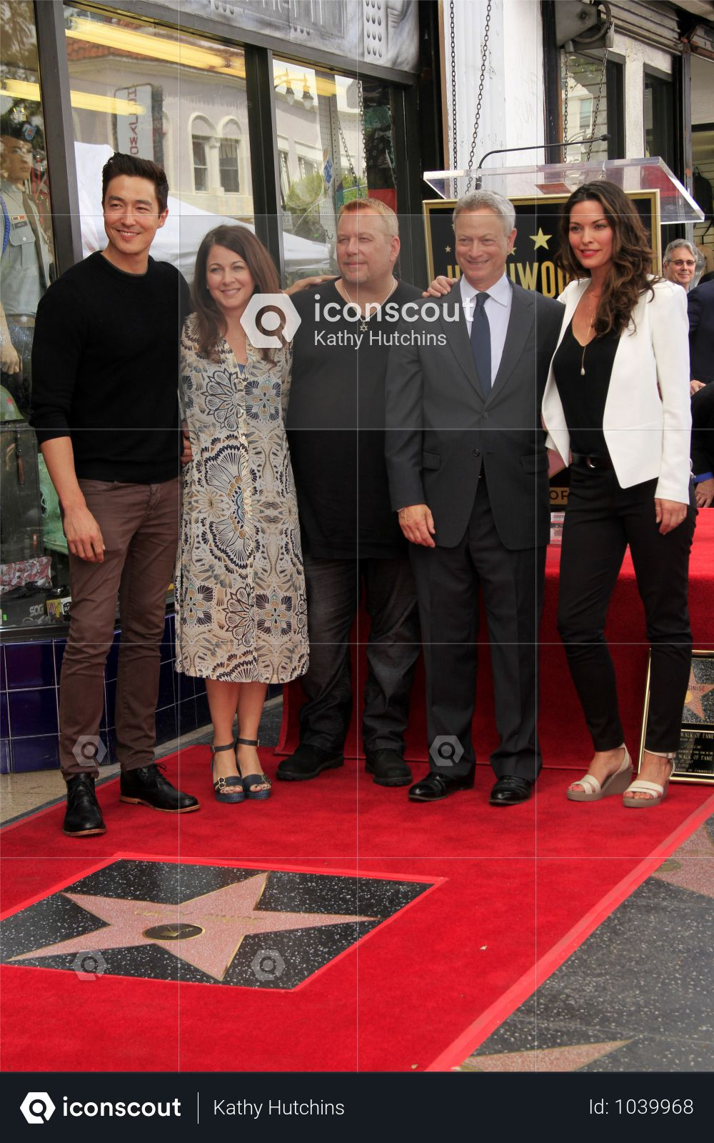 USA - Gary Sinise Honored With Star On The Hollywood Walk Of Fame - Los Angeles Photo