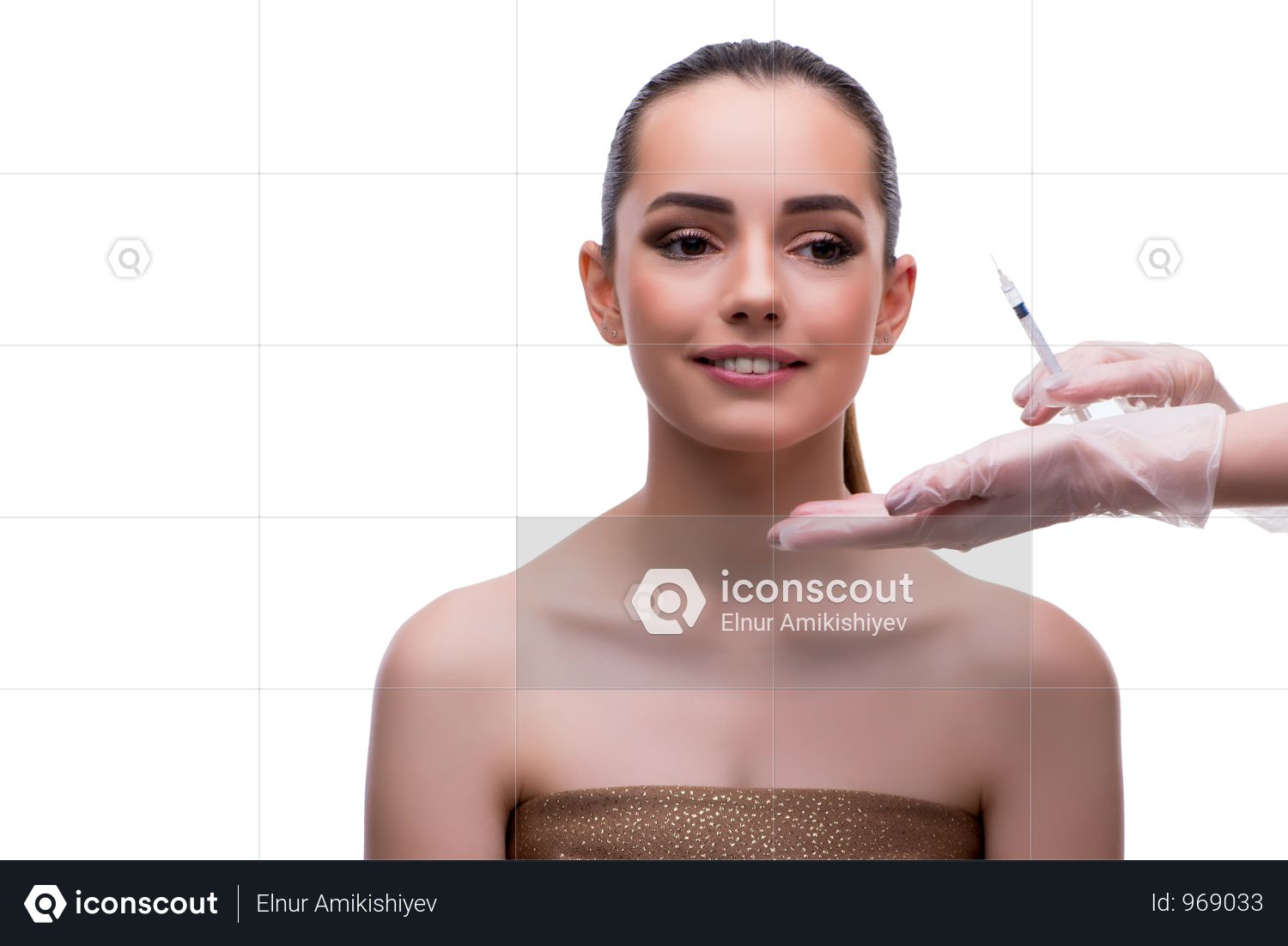 Woman In Beauty Concept Having Botex Facelift Photo