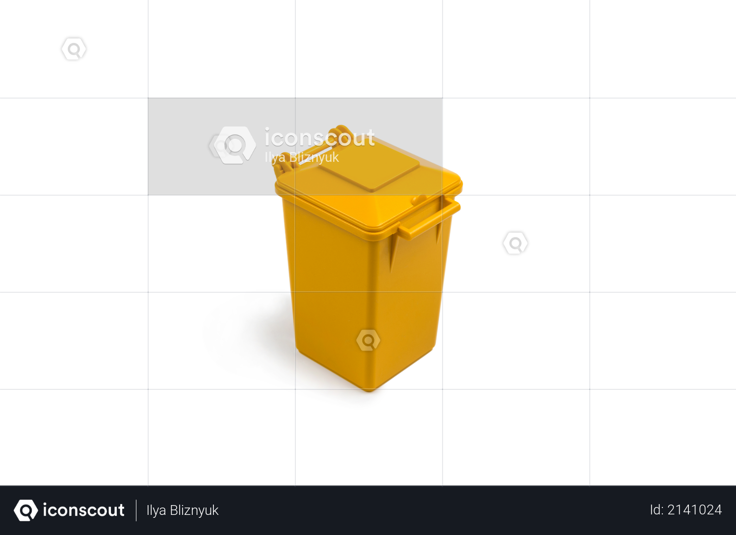 Yellow trash can Photo