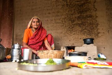 Old Woman Cooking Shoot