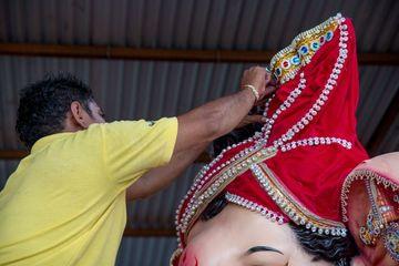 Artist Making A Statue Of Lord Ganesha Shoot