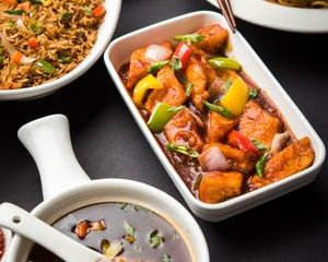 Assorted Chinese Food In Group Shoot