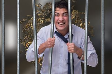 Businessman In Prison Stock Images