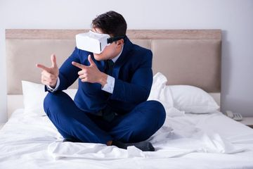 Businessman Wearing VR Shoot