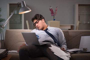 Late Night Working Stock Images