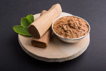 Chandan Or Sandalwood Paste And Sticks Shoot