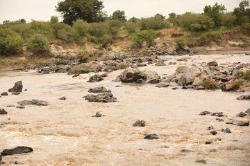 Damaged Rural Road Masai Mara Kenya Africa Shoot