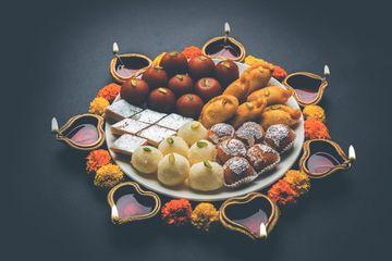 Diwali Sweets And Diya Shoot
