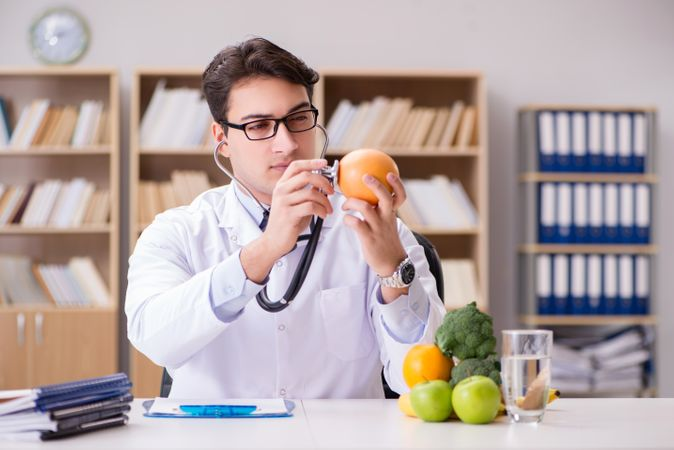 Doctor In GMO Food Concept