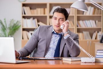 Businessman With Bad Habit Stock Images
