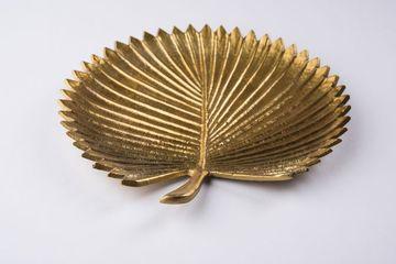 Empty Golden Designer Ceramic Plate Shoot