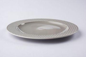 Empty Grey Ceramic Round Plate Shoot