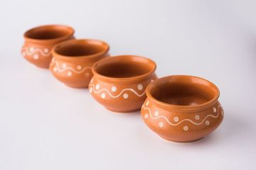Empty Terracotta Serving Bowl Shoot
