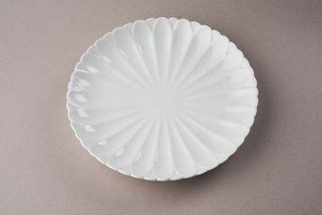 Empty White Ceramic Round Plate Shoot