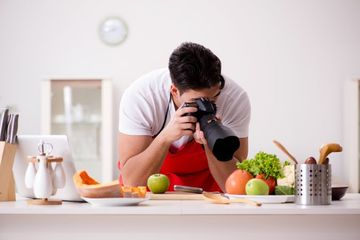 Food Blogger Stock Images