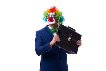 Businessman As Clown Shoot