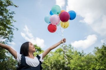 Happy Girl With Balloons Shoot