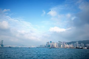 Victoria Harbour And Hong Kong Central City Skyline Shoot