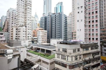 Commercial Buildings In Central Area In Hong Kong Shoot